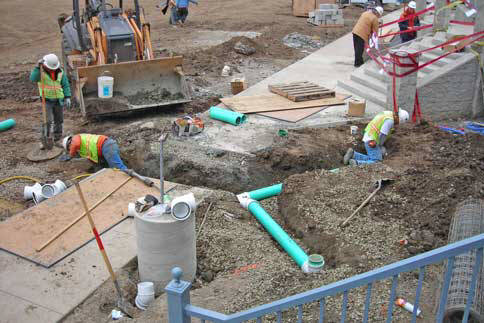 Bay Area Underground Pipeline construction for Underground Utilities